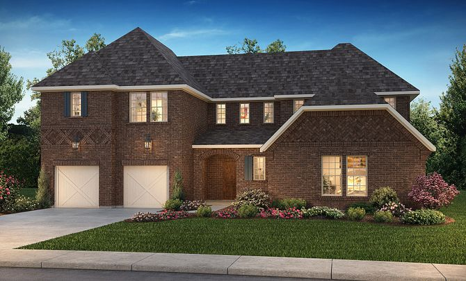 Plan 6050 Exterior C: Texas Traditional