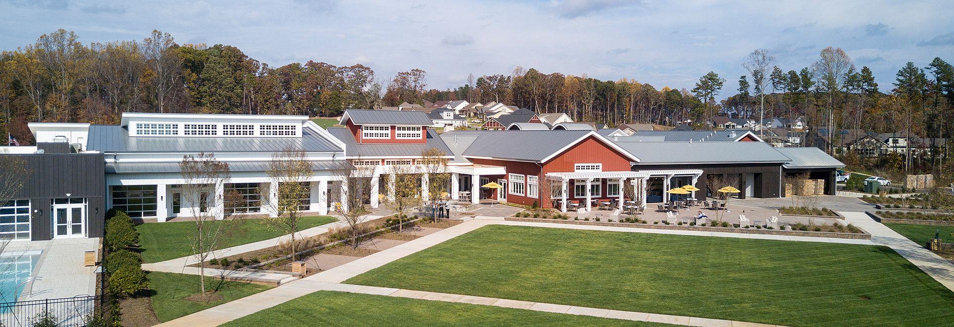 Twin Mills Club Drone View