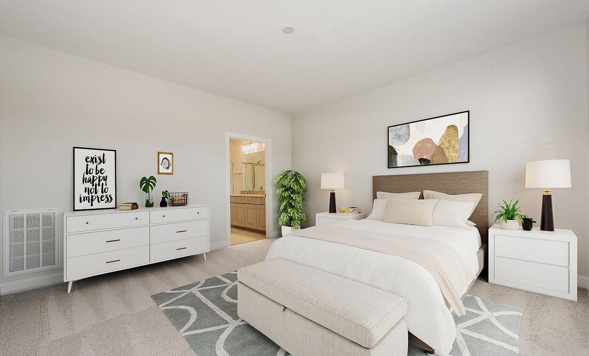 Trilogy Lake Norman Virtually Staged Master Bed