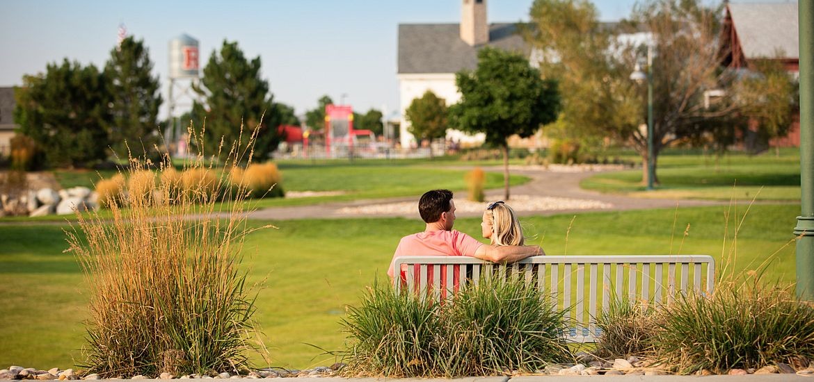 Couple on Park Bench at Reunion