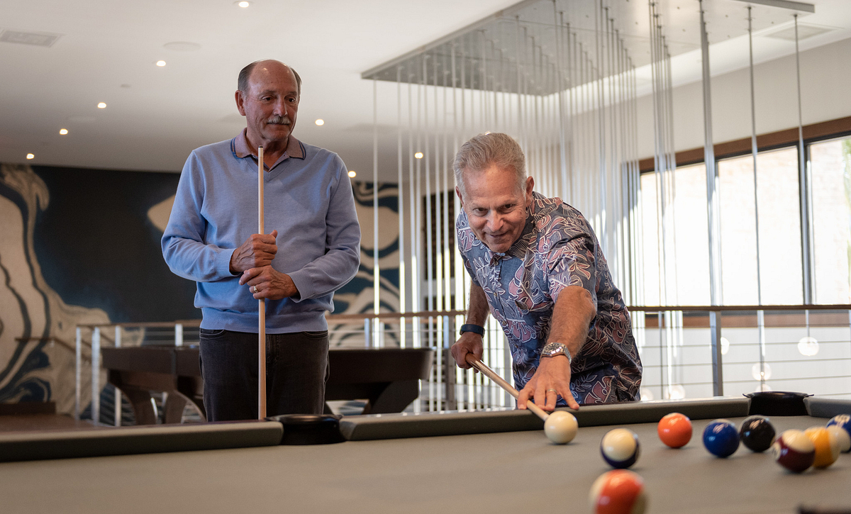 Trilogy Homeowners Playing Pool
