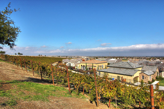 Exterior view of the Trilogy at The Vineyards community