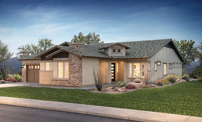 Evolve at Cantilena Flourish Plan 5581 Contemporary Craftsman Exterior