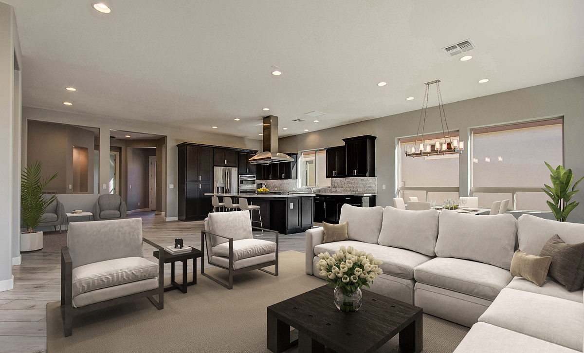 Virtually Rendered Great Room