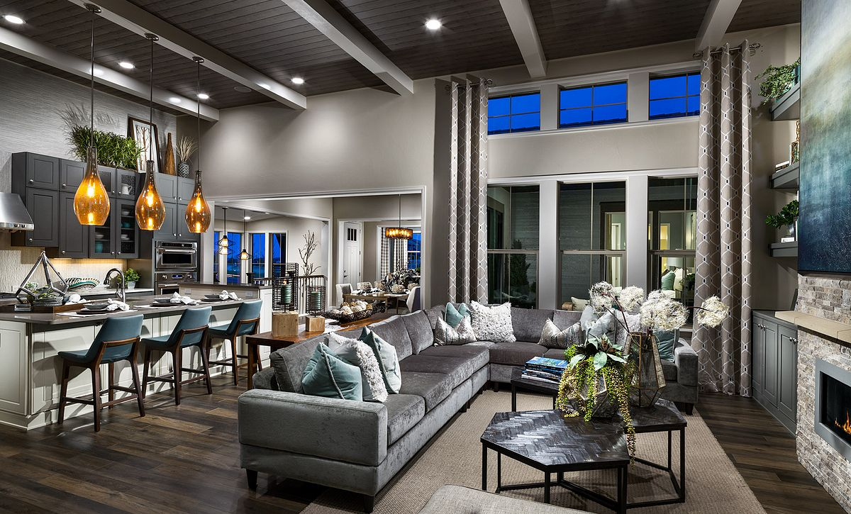 BackCountry Painted Sky Indigo Mist Great Room & Kitchen