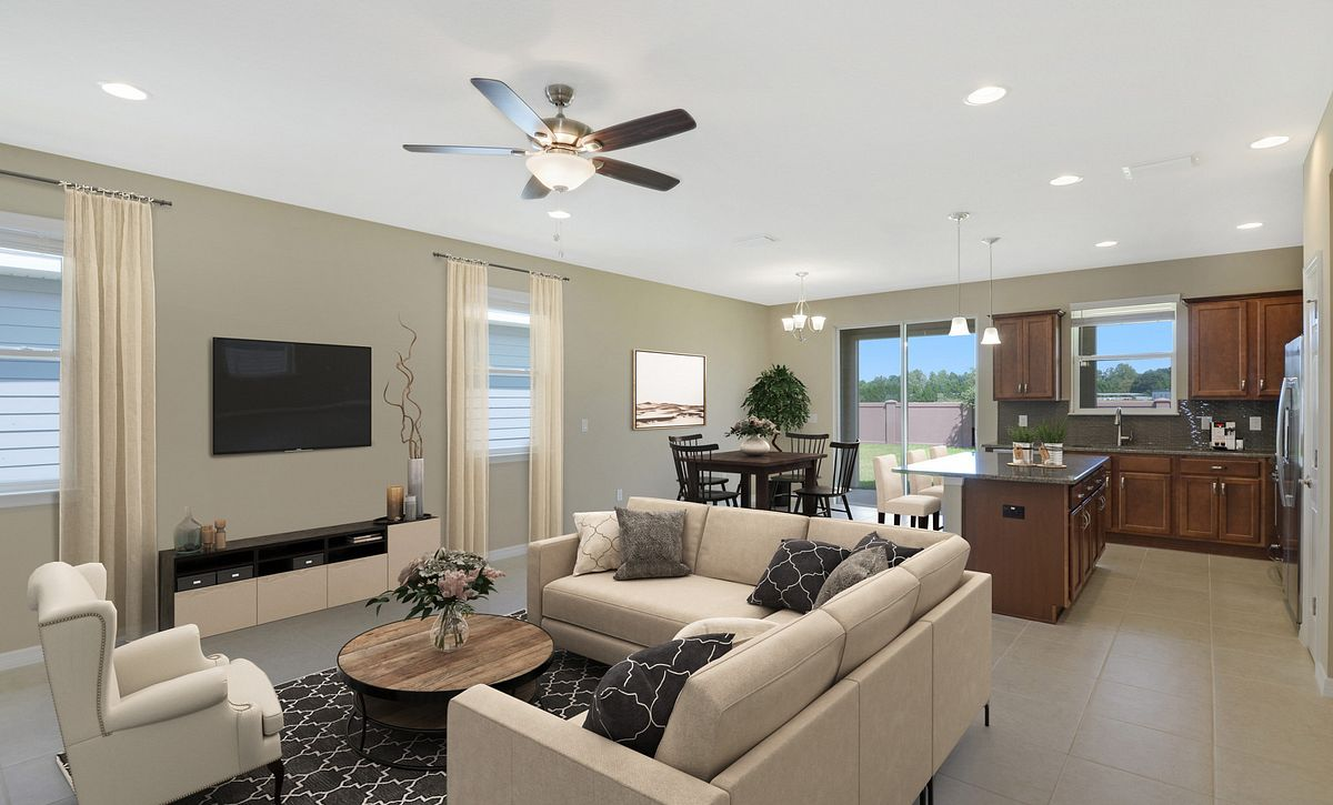 Tirlogy at Ocala Preserve Great Room Virtually Staged