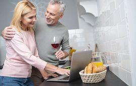 Couple Watching Virtually