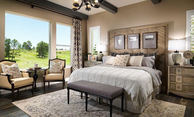 Whispering Pines Woodlands Timber Ridge Master Bedroom