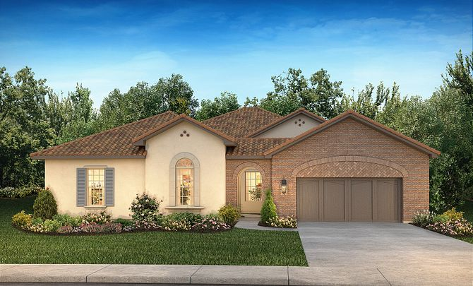Plan 6020 Exterior A: Texas Traditional