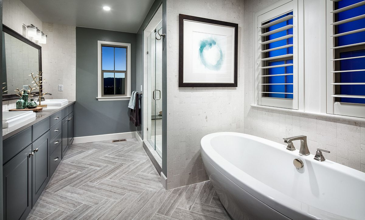 BackCountry Painted Sky Indigo Mist Master Bathroom