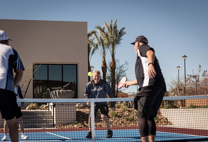 Trilogy Summerlin Homeowners Playing Pickle Ball