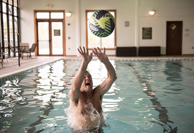 Man with Water Volleyball