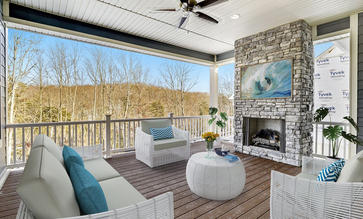 Trilogy at Lake Frederick Quick Move In Virtually Staged Covered Patio