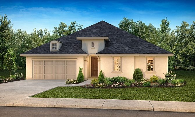 Plan 5019 Exterior C: French Country