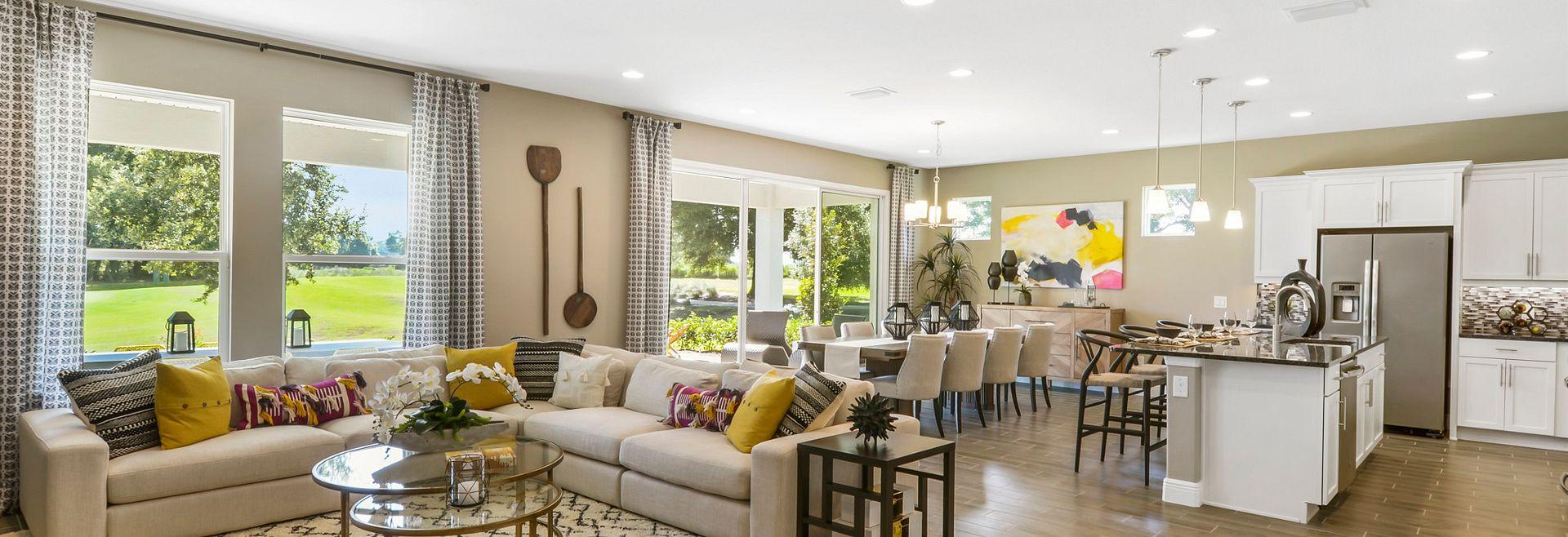 Trilogy at Ocala Preserve Liberty Model Great Room