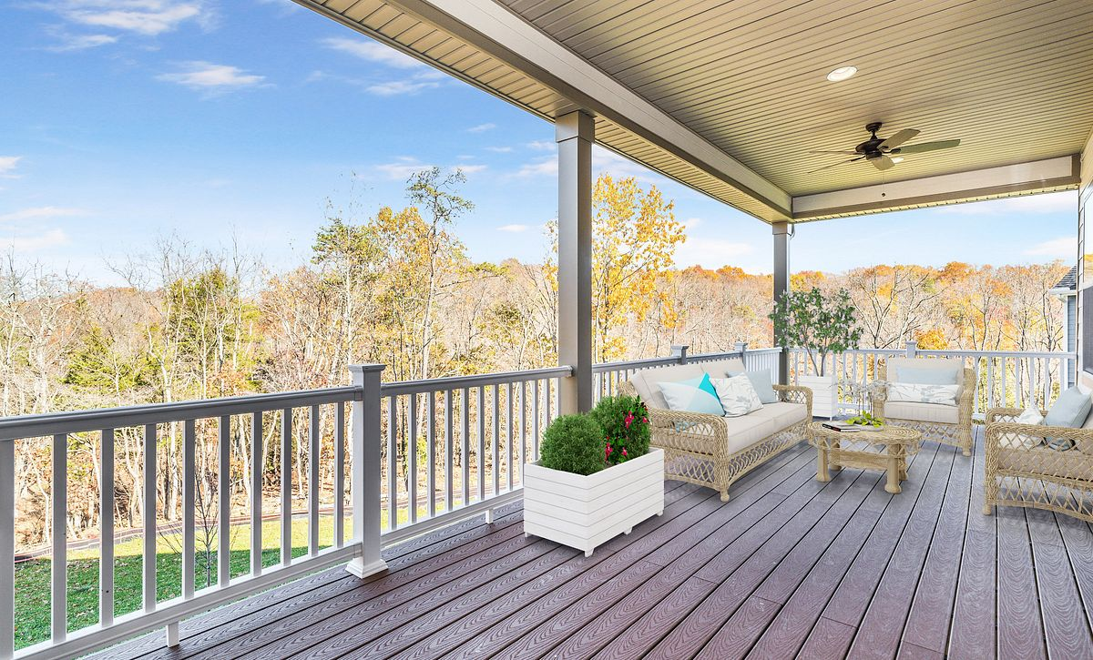 Trilogy at Lake Frederick Virtually Staged Covered Patio