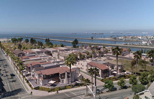 Ocean Place Aerial Rendering