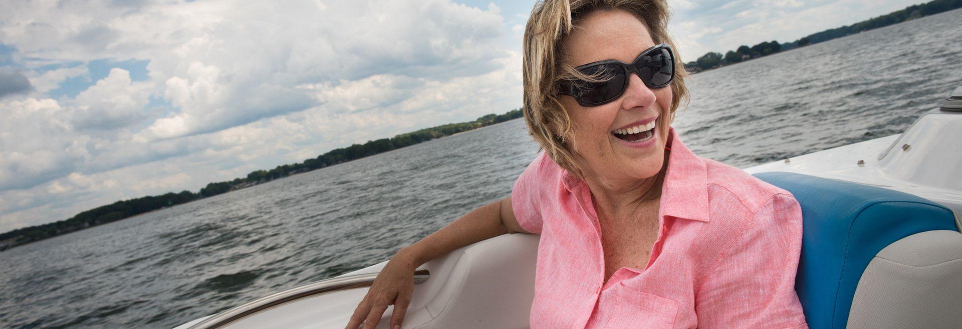 lady on Lake Norman