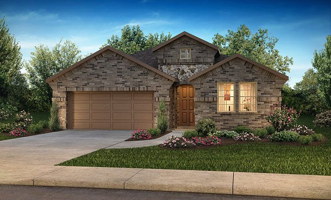 Plan 4019 Exterior B: Texas Traditional