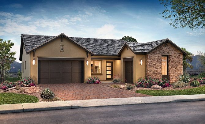 Plan 5011 Exterior C: Hill Country