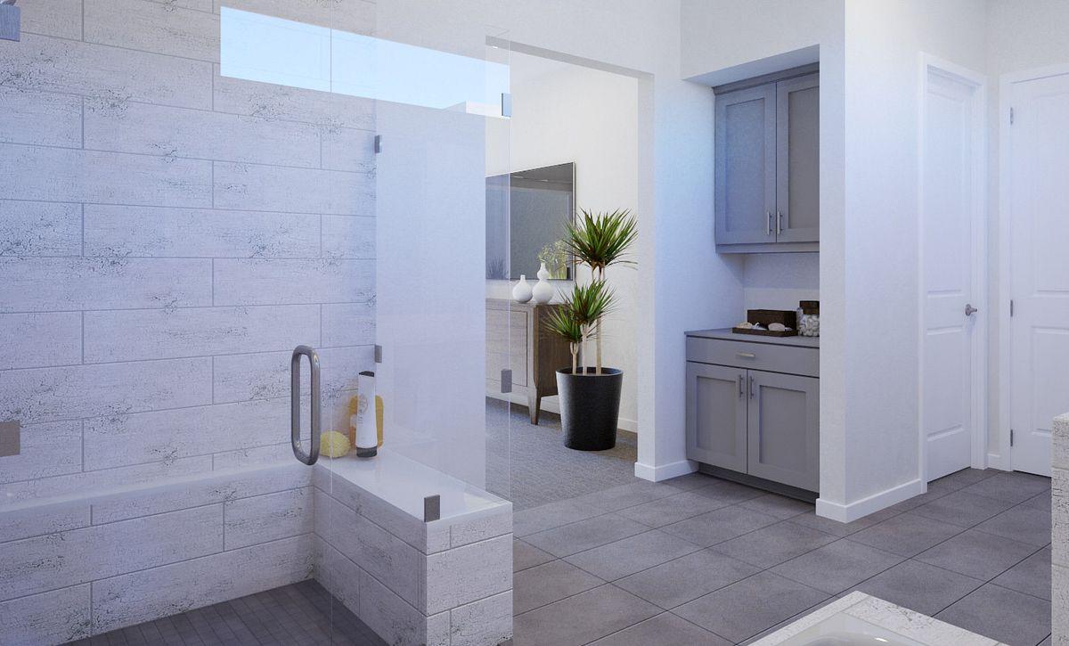 Trilogy Summerlin Luster Master Bathroom Rendering