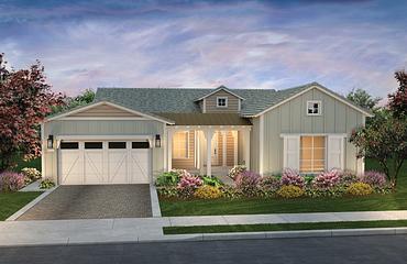 Riviera Plan Exterior A: Contemporary Ranch