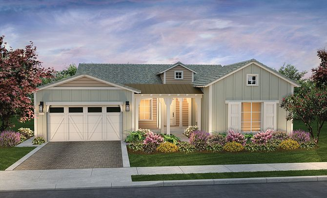 Riviera Plan Exterior A: Contemporary Ranch