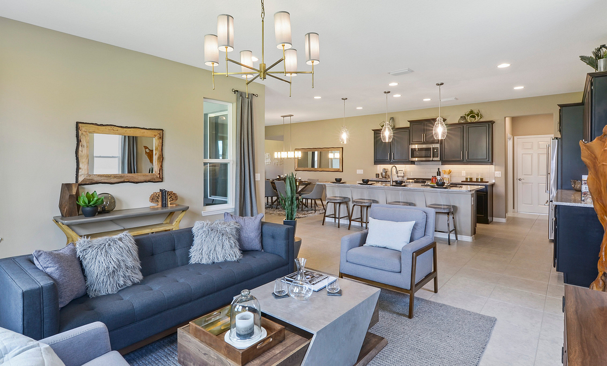 Trilogy at Ocala Preserve Excite Model Home Great Room