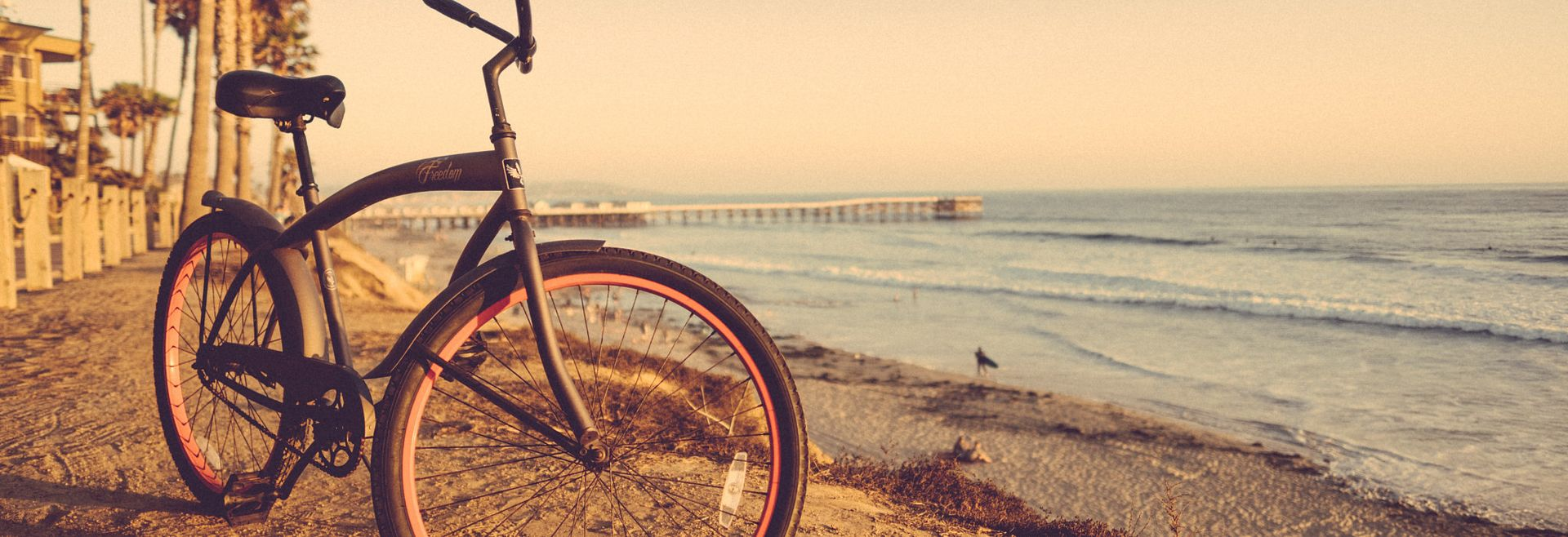 San Diego Stress Relief Beach with Bicycle | Shea Homes
