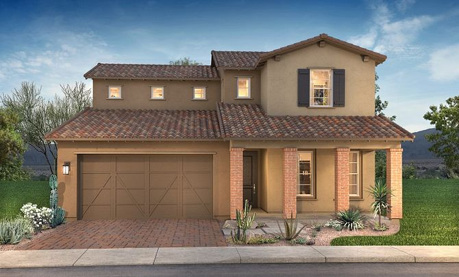 Plan 4015 Exterior B: Adobe Ranch