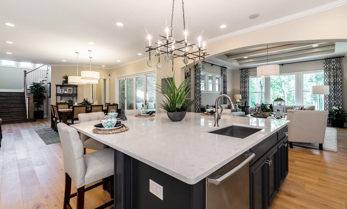 Providence plan Kitchen, Morning, Family Room