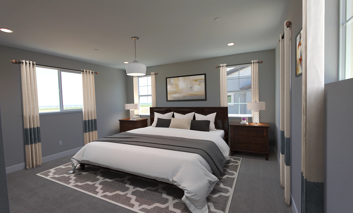 Plan 3 Primary Bed Virtual Staging
