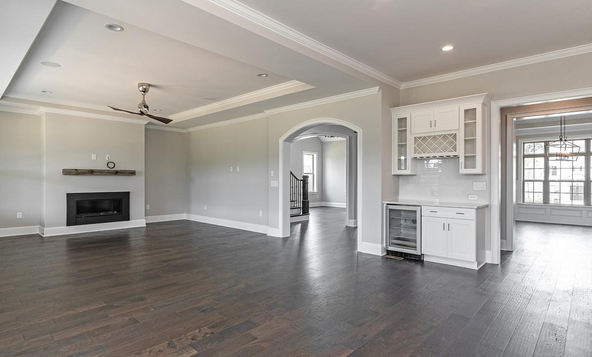 Preston plan Family Room w/ tray ceiling option