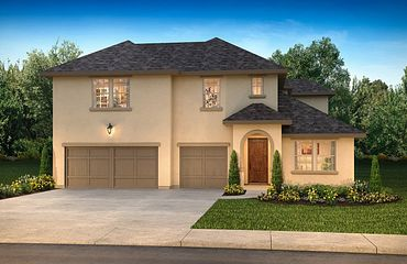 Plan 5049 Exterior C: French Country