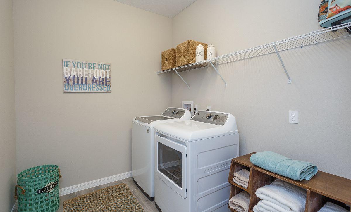 Trilogy Orlando Liberty Model Home Laundry