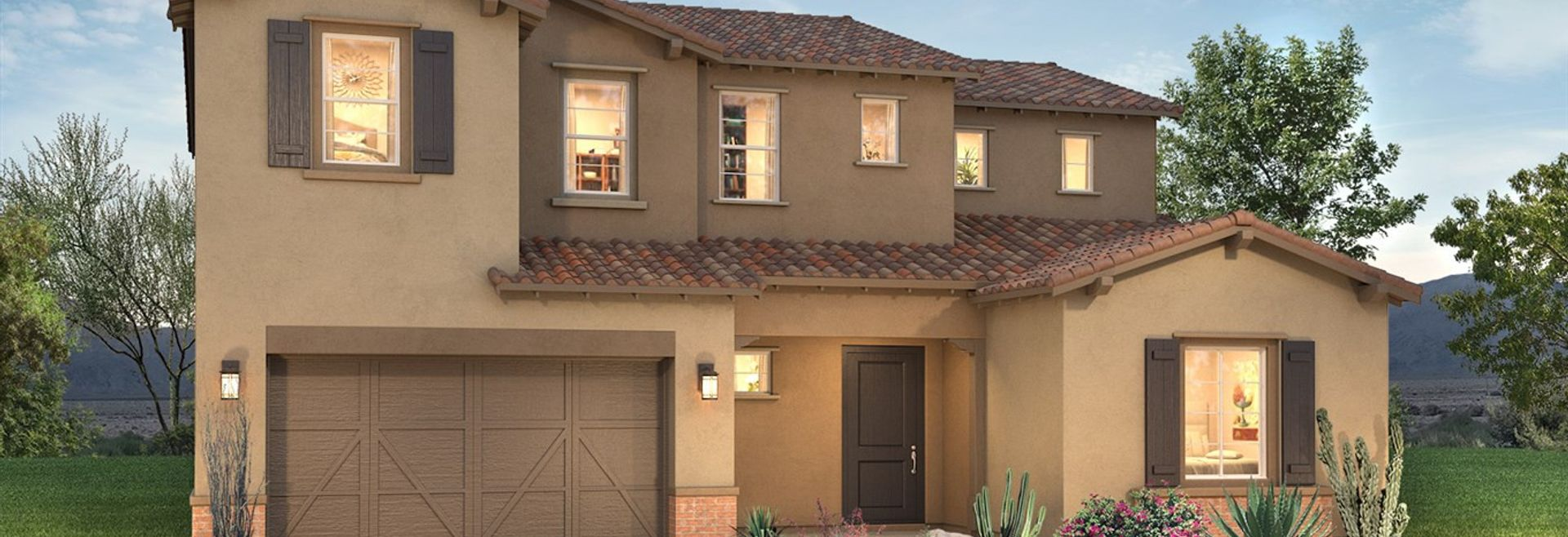 Plan 5015 Exterior B: Adobe Ranch