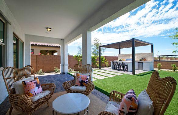 Plan 5014 Backyard