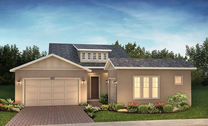 Trilogy at Ocala Preserve Exterior Elevation D Traditional