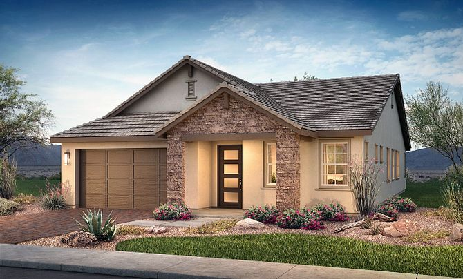 Plan 4014 Exterior C: Hill Country
