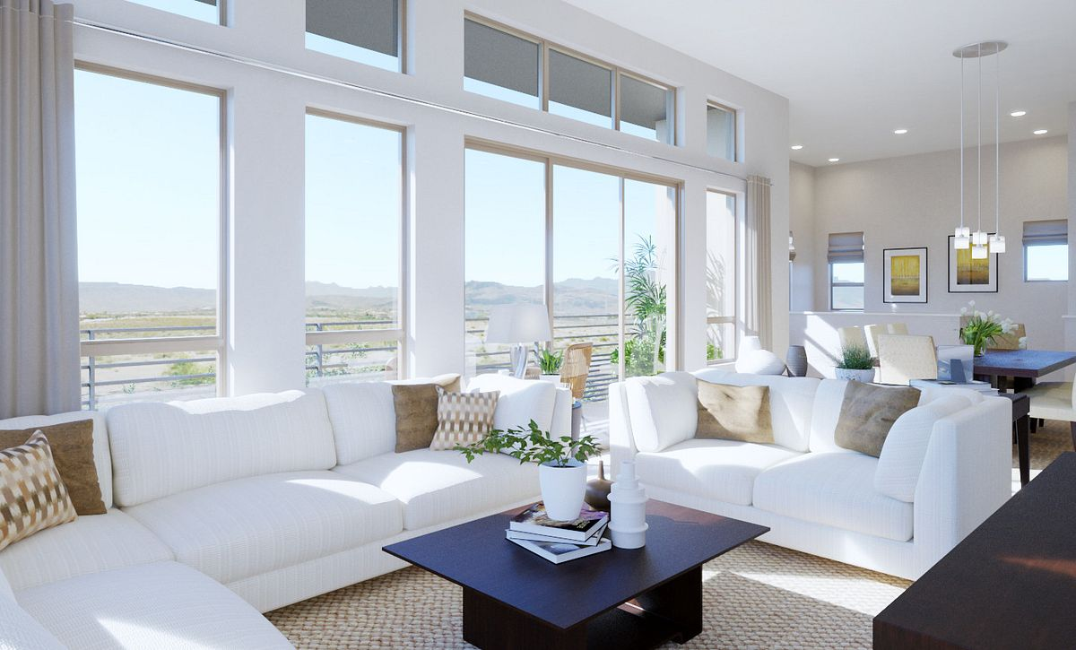 Trilogy Summerlin Summit Great Room Rendering