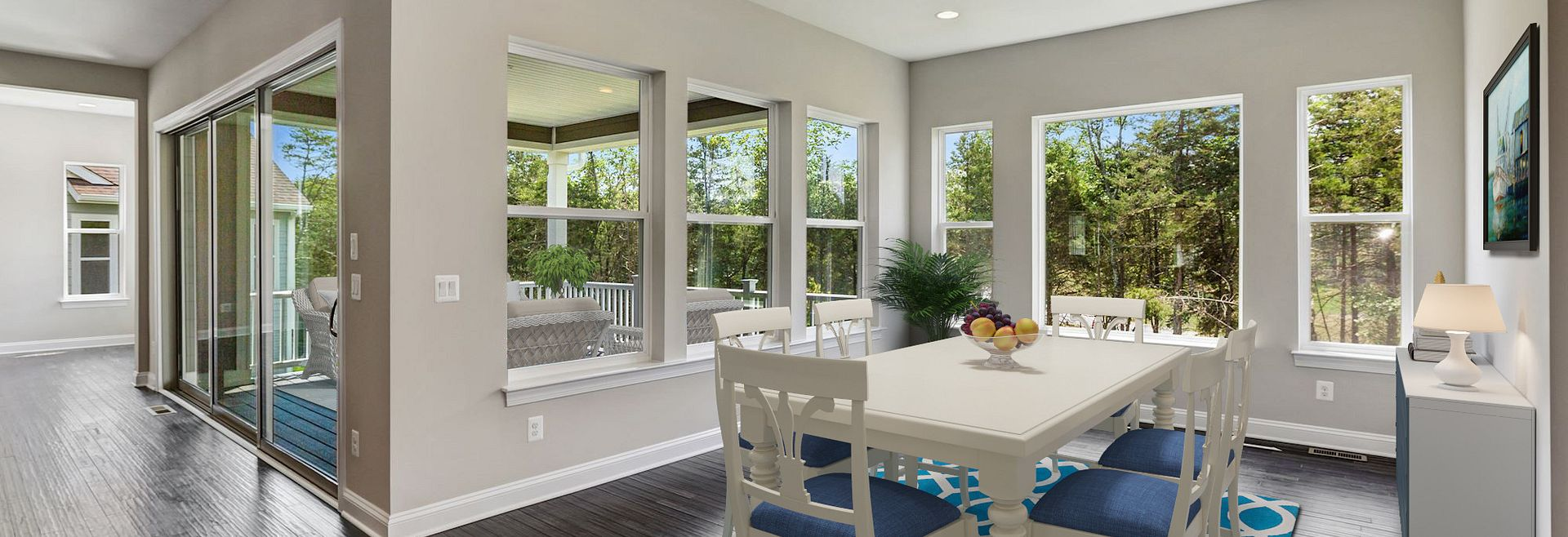 Trilogy at Lake Frederick Quick move In home Hensely Plan Virtually Staged  Dining Room