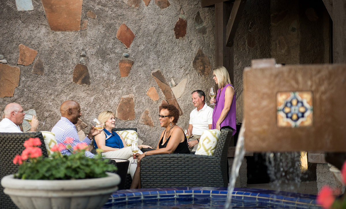 Trilogy Homeowners Enjoying La Casa Patio