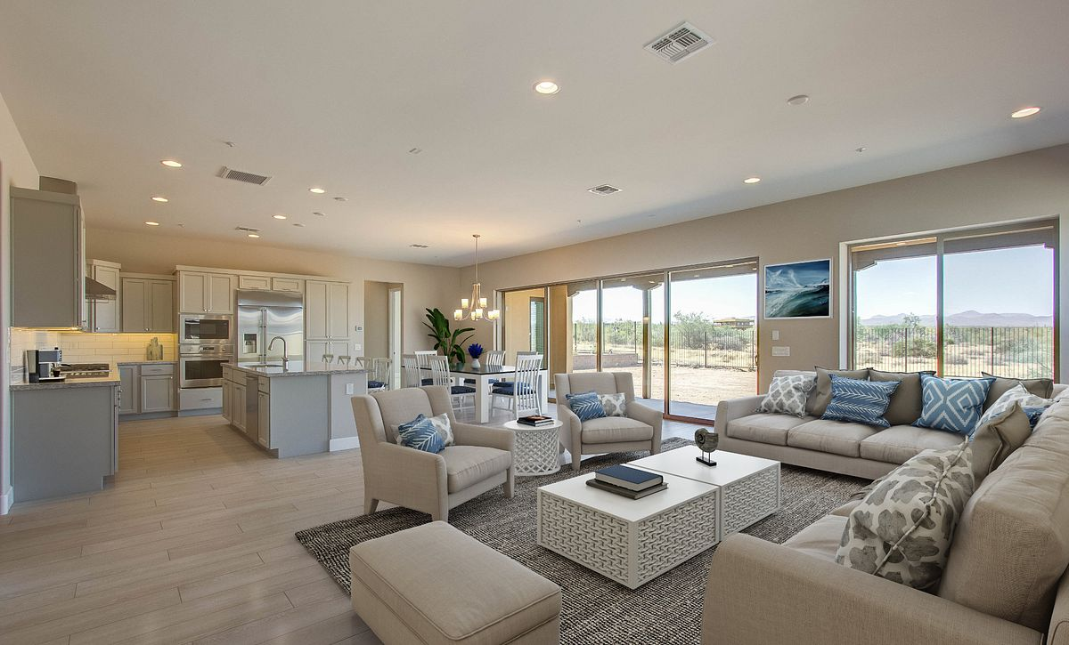 Virtually Rendered Great Room and Living Space