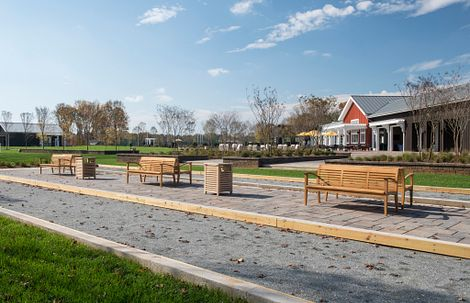 Bocce Courts at Twin Mills Club at Trilogy Lake Norman