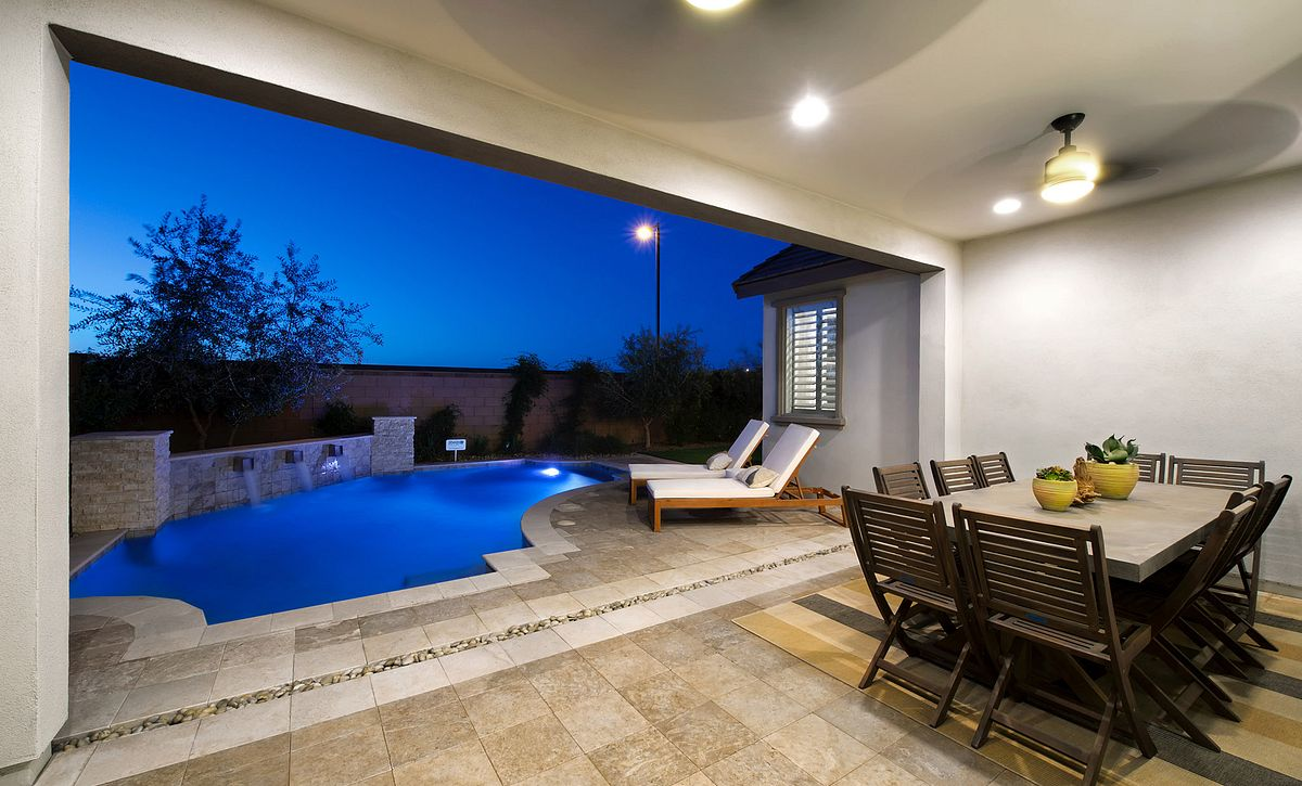 Plan 4013 Back Patio and Pool
