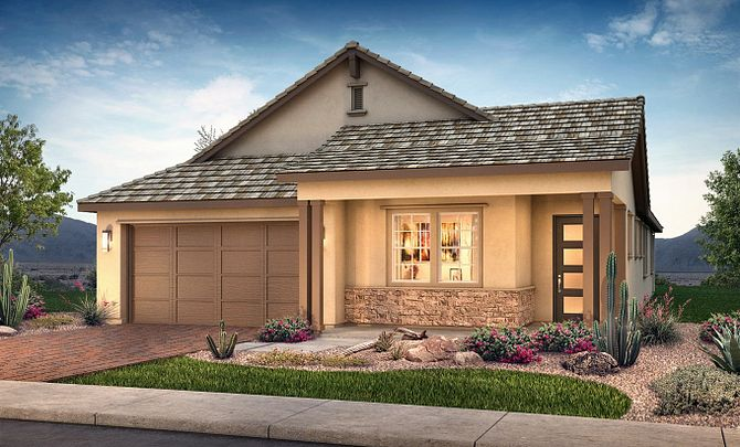 Plan 4012 Exterior C: Hill Country