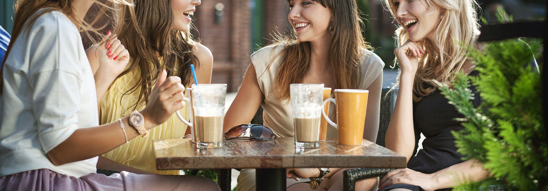 Friends enjoying coffee