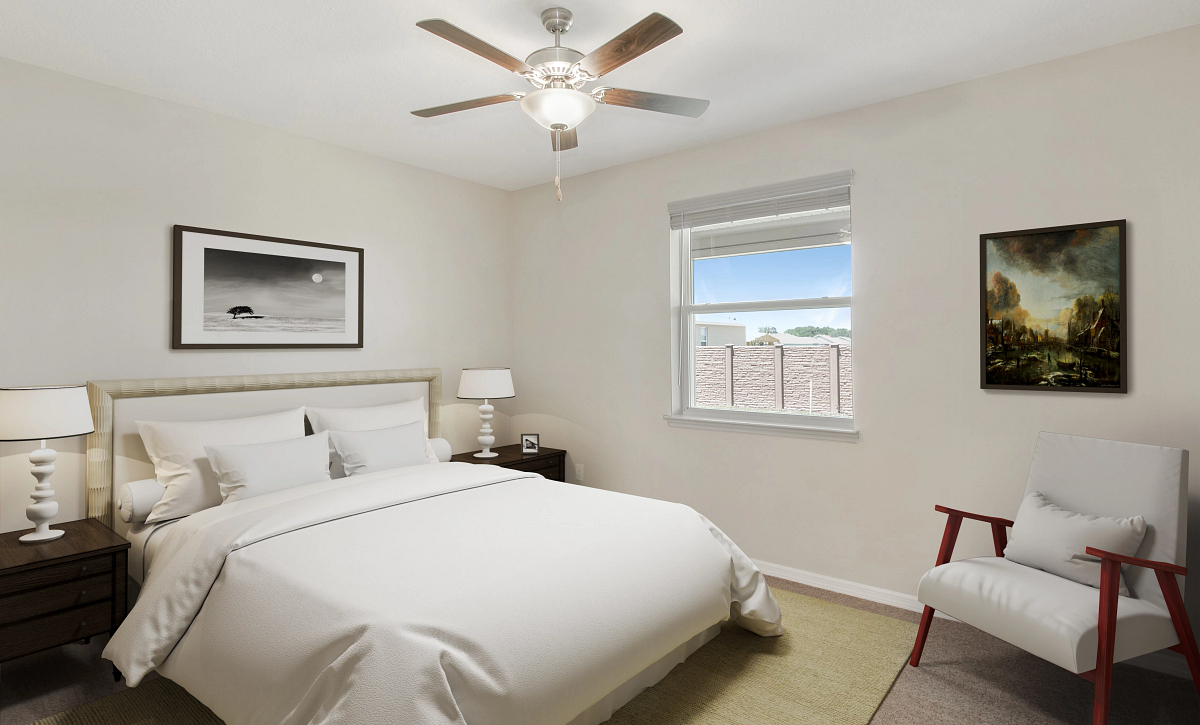 Trilogy at Ocala Preserve Quick Move In Rome Virtually Staged Master Bed