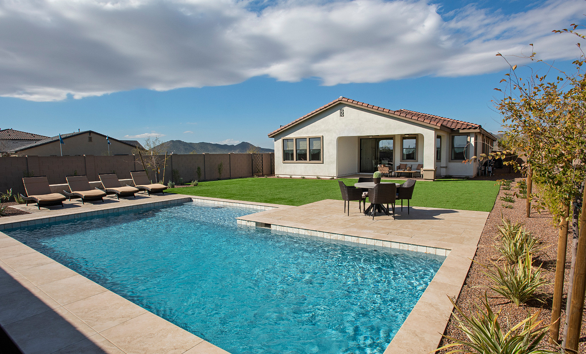 Ascent at Aloravita Plan 4014 Backyard Pool