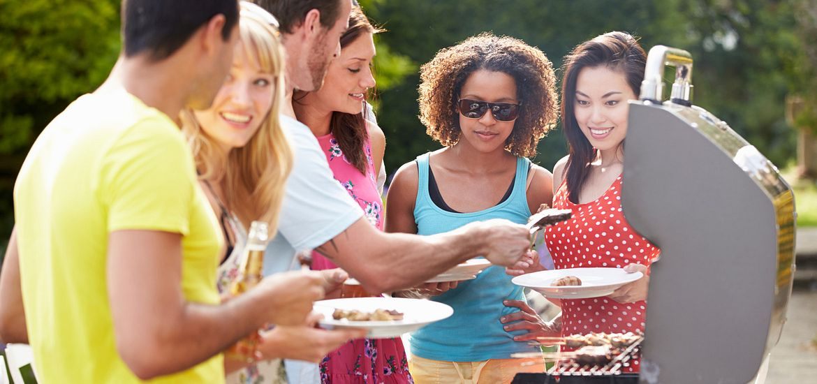 Group of People enjoying a BBQ